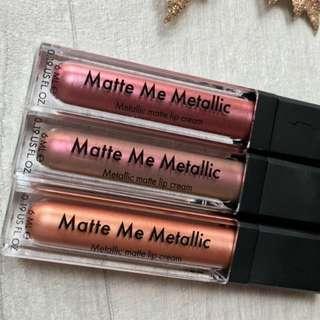 Sleek Matte Me Metallic Metallic matte lip cream