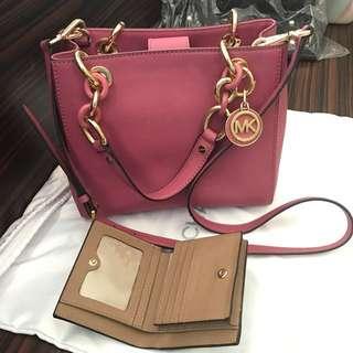 CNY clearance- MK Cynthia bag, free brand new MK wallet