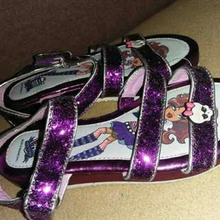 Monster High amethyst sandals US13