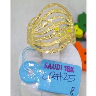 18k Saudi Gold Ring 2.5g Size 8