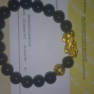 24K Gold with Agate Bracelet bought at RM1,088