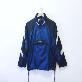Nike Vintage Embroidery Logo Windbreaker With Front Pocket