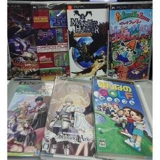 PSP 遊戲大約 30 隻 ( 內有每隻價錢 )