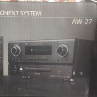 Aowa receiver a/v component system