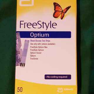 Freestyle Optium Blood Glucose Test Strips (50's)