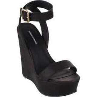Black Windsor Smith Wedges Size 9