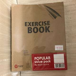 Broad line Exercise Books
