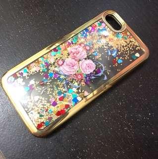 Case Iphone 7 Glitter Gold