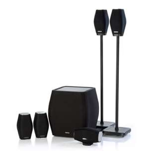 Monitor Audio 5 surround sound speakers + 1 subwoofer