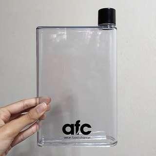 BNIB BNIP Asian Food Channel Transparent A5 Rectangle Flat Water Bottle