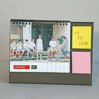 WANNA ONE 2018 CALENDAR WITH STICKY NOTES
