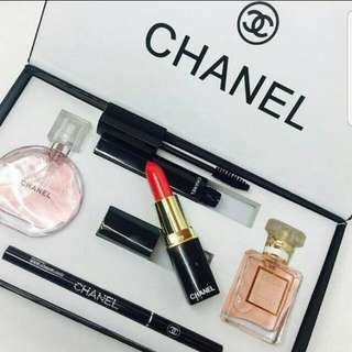 Chanel Gift Set 5 in 1 Instocks Sets Lipstick Perfume