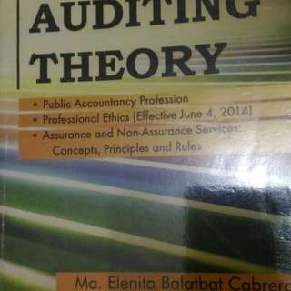 Auditing Theory by Cabrera