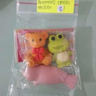 Animal Daiso Eraser