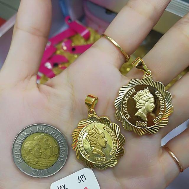 18K Saudi Gold Pendabt