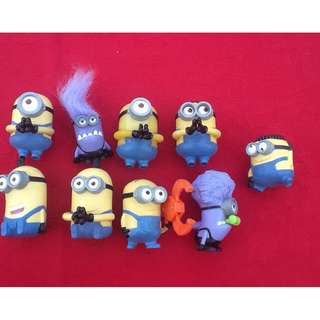 McDONALD'S MINIONS SET OF 9 DESPICABLE ME 2 KID'S MEAL MOVIE TOYS