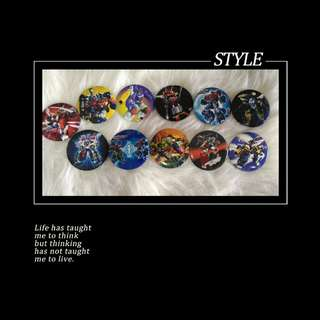 Transformer Brooch Badge ( 11pcs/ set)