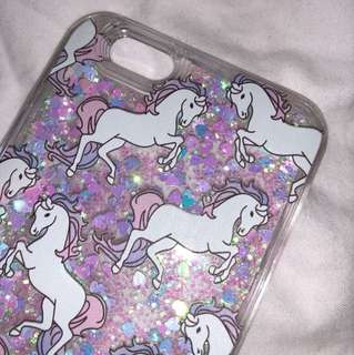 iPhone 6 Unicorn movable Glitter phone case