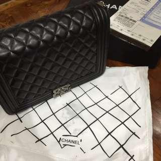 全新Chanel boy 大號手袋