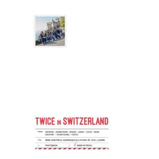 <<代購+預購>>Twice-Twice TV 5: Twice Switzerland Photobook