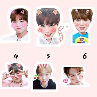 new design! jihoon sticker set