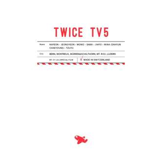 <<代購+預購>>Twice-Twice TV 5: Twice Switzerland DVD