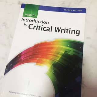 HW0101 Introduction to Critical Writing