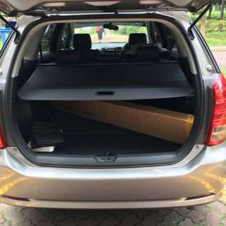 Toyota wish Retractable boot cover