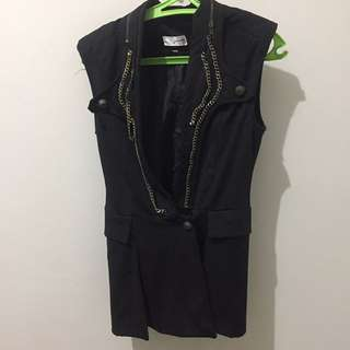 Black Vest with Chain