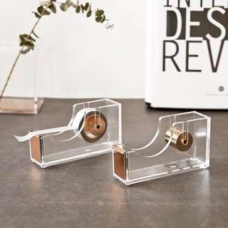 PO- Rose Gold Acrylic Tape Dispenser / Scotch Tape Holder