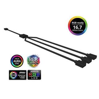 Cooler Master 1 to 3 RGB LED Splitter Cable coolermaster