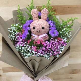 Rabbit dried flowers bouquet