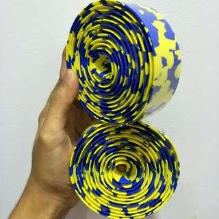 NEW Crash Bar Tape: Yellow Blue Cammo