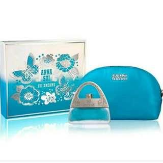 Anna Sui ~Sui Dreams~ 30ml Eau De Toilette & Cosmetic Pouch Bag Box Set ~ Fast Deal @$40 ~