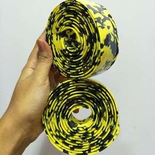Crash Bar Tape: Yellow Black Cammo