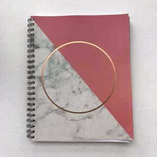 typo A4 lined college spiral notebook with dividers