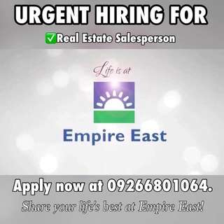 URGENT HIRING for REAL ESTATE SPECIALIST