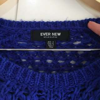 Midnight Blue knitted top NEW