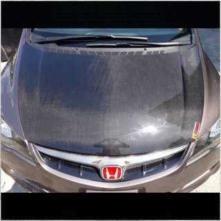 Honda Civic FD FD2R Hood CF