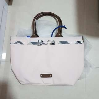 Crestbridge blue label large tote in pink burberry