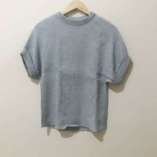 Baby Blue Pleated Top