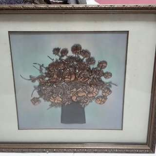 Copper art painting
