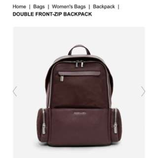 Charles & Keith Double Front Zip Backpack