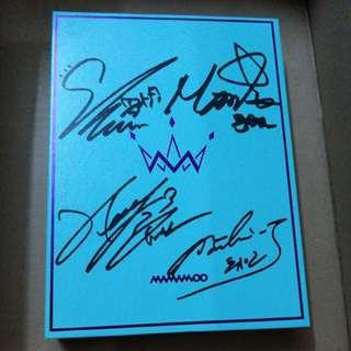 MAMAMOO《Purple》 親筆簽名珍藏版cd