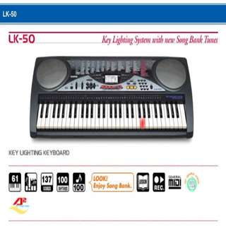 Used! Casio Key Lighting Keyboard LK-50