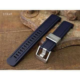 Seiko Sumo - Crafterblue Black Color - Curved End Rubber Strap