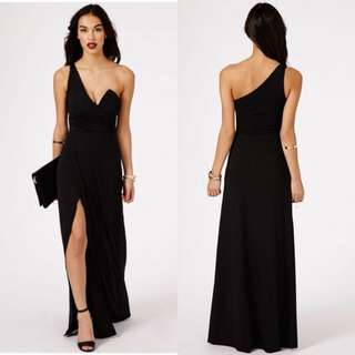 Missguided koemi one shoulder bustier split maxi dress