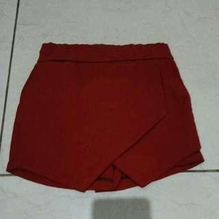 Red celia skirt