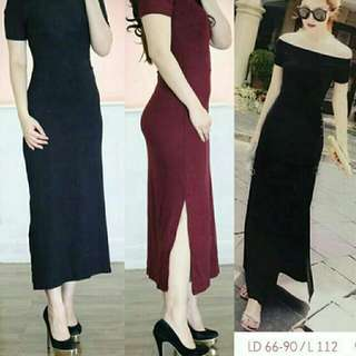 Comfy Slim Long Dress Sabrina