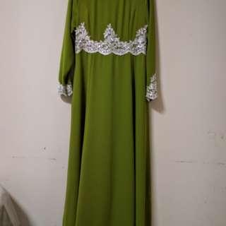 Jubah Hijau/Green NEW